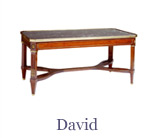 The David Louis XVI lounge table is finely crafted from mahogany