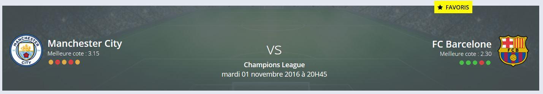 Un Pronostic Manchester City FC Barcelone Ligue des Champions ?