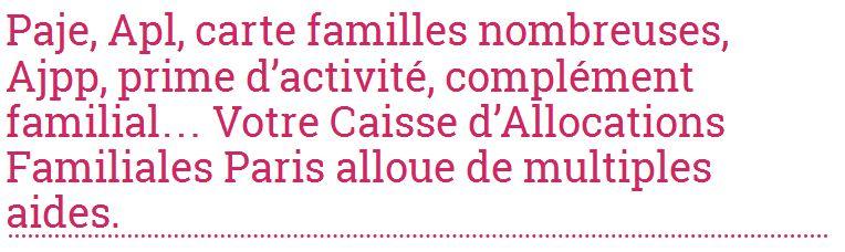 Allocations-info vous renseigne sur les prestations de votre Caf à Paris
