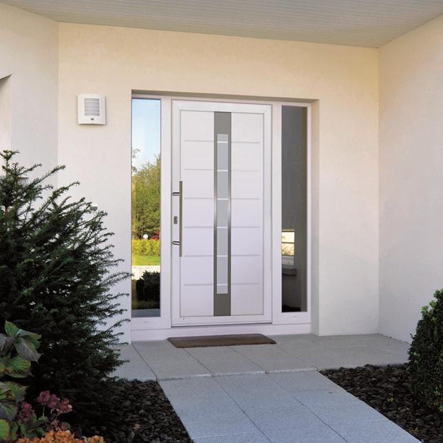 Chez Tryba les modèles personnalisables de portes d'entrée en PVC sont nombreux…